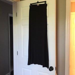 Black long maxi skirt. Cotton material